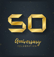 50 anniversary night party - fest poster abstract vector image vector image