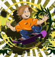 abstract of a boy on a skateboard vector image