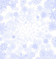 background with snowflakes blue vector image vector image