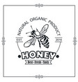 bee honey emblem vector image