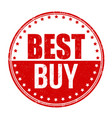 best buy grunge rubber stamp vector image vector image