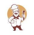 best food happy cartoon chef for vector image