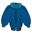 blue kid coat on white background vector image vector image
