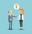 business teamwork with idea vector image