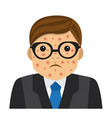 businessman with pimples on his face vector image vector image