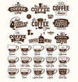 coffee label logo and menu vector image vector image