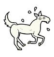 Comic cartoon horse sweating