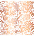 copper rose gold foil mosaic flowers pattern vector image