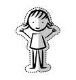 cute little girl isolated icon vector image vector image