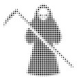 death scytheman halftone icon vector image