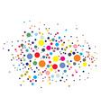 Disco lights dots vector image
