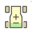electric car batterry icon design 48x48 pixel vector image