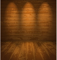 Empty wooden room vector image vector image