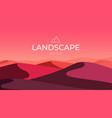 evening desert landscape sand dunes nature vector image vector image