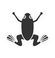 frog glyph icon vector image