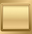gold metallic plaque background vector image vector image