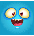 happy cartoon monster face avatar vector image vector image