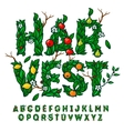 Harvest festival alphabet vector image vector image