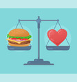 health balance on the scale vector image vector image