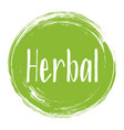 herbal origination ingredients icon package label vector image vector image