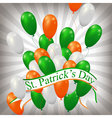 irish balloons background vector image vector image