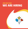 join our team busienss company heart and star vector image vector image