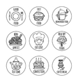 Kitchen tools icons background isolation vector image