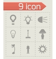 light icons set vector image