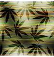 maryhuana hemp pattern vector image vector image