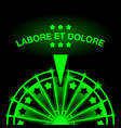 neon casino gaming machine vector image vector image