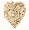 Original drawing doddle heart vector image vector image