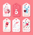 pack love tags valentines labels set vector image vector image