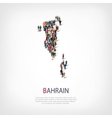 people map country Bahrain vector image