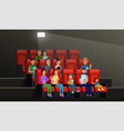 people watching movie vector image vector image