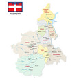 piedmont administrative and political map vector image vector image