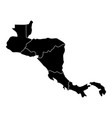 political map of center america vector image vector image