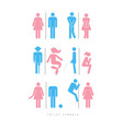 poster toilet symbols male and female silhouettes vector image