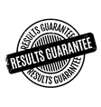 Results Guarantee rubber stamp vector image vector image