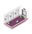 robotized hotels isometric composition vector image vector image