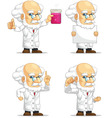 Scientist or Professor Customizable Mascot 3 vector image vector image