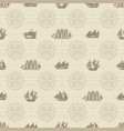 seamless background on theme sea travel vector image vector image