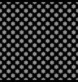 seamless black and white geometric snowflake vector image vector image
