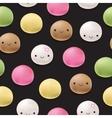 Seamless pattern Japanese mochi rice dessert vector image