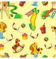 seamless pattern of children playground vector image