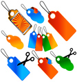 Set of price tags and labels vector image