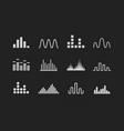 set sound wave logo music wave white icons vector image