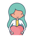 specialist woman doctor with heart vector image vector image