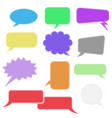 speech bubbles colored blank signs vector image vector image
