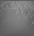 stock rain isolated on vector image