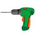 Tools drill electric vector image